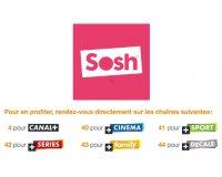 Sosh: Les 6 chaînes Canal+ en clair pour les abonnés avec décodeur TV d'Orange