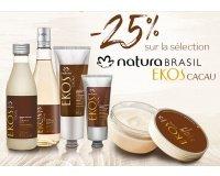 Natura Brasil: -25% sur la sélection Ekos Cacau