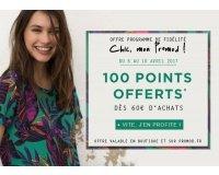 Promod: Bonus de 100 points offerts sur la carte de fidélité dès 60€ d'achat