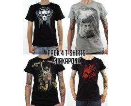 Goeland: Pack 4 t-shirt homme du groupe Shaka Ponk à -75%
