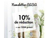 Casa: -10% de réduction et un sac Casa gratuit en vous inscrivant à la newsletter