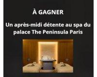Le Figaro: 1 après-midi détente pour 2 personnes au spa de l'hôtel The Peninsula Paris