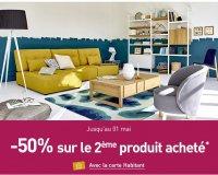 Habitat: 50% de réduction sur le 2ème meuble acheté avec la carte habitant