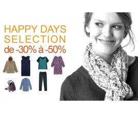Somewhere: [Happy Days] Jusqu'à -50% sur une sélection d'articles femme et homme