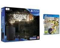 Amazon: Pack PS4 1 To + 2 jeux (Resident Evil 7 + FIFA 17) à 299,99€
