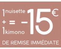 Darjeeling: 1 nuisette + 1 kimono achetés parmi une sélection = 15€ de réduction immédiate