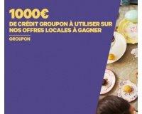 Groupon: 1000€ de bon d'achat à gagner