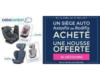 Allobébé: Une housse offerte pour l'achat d'un siège-auto Axissfix ou Rodifix