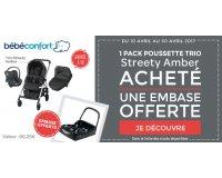 Allobébé: Une embase Citi offerte pour l'achat d'un pack poussette trio Streety Amber