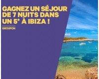 Groupon: 1 séjour de 7 nuits dans un hôtel 5* à Ibiza à gagner