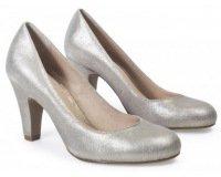 André: Escarpins glamour cuir argent à 27,60€
