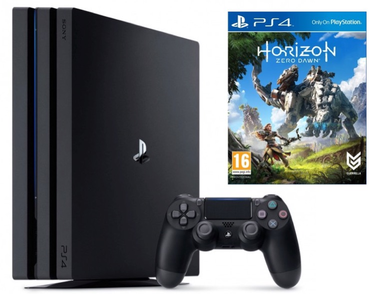 1 console ps4 pro achet e le jeu horizon zero dawn. Black Bedroom Furniture Sets. Home Design Ideas