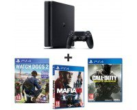 Auchan: PS4 500 Go Slim + Watch Dogs 2 + Mafia 3 + CoD : Infinite Warfare à 259,99€