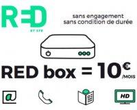 SFR: Abonnement internet Red Box Fibre à 10€ par mois à vie au lieu de 19,99€