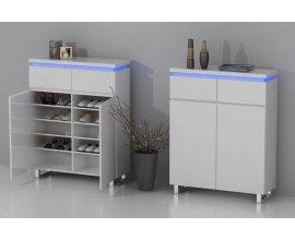 Miliboo: Meuble d'appoint d'entrée design laqué blanc à 166,11€