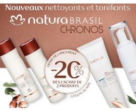Natura Brasil: -20% dès 2 produits de la gamme Chronos achetés