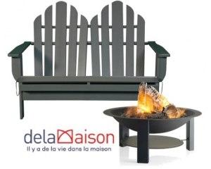 15 de r duction sur la collection de mobilier de jardin wild nature delamaison code promo. Black Bedroom Furniture Sets. Home Design Ideas