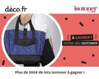 DECO.fr: Plus de 500€ de lots Isotoner à gagner