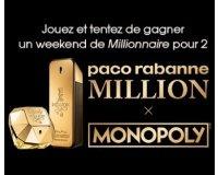 Paco Rabanne: 1 weekend de Millionnaire, 4 x 1 an de Parfum 1 MILLION et des parfums à gagner