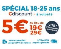 Cdiscount: Cdiscount A Volonté à 5€ pour les moins de 25 ans