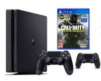 Cdiscount: PS4 Slim Noire 500 Go + 2e Manette+ Call of Duty Infinite Warfare à 279,99€