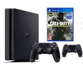 Cdiscount: PS4 Slim Noire 500 Go + 2e Manette+ Call of Duty Infinite Warfare à 279,99€
