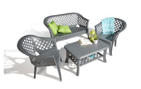 en magasin salon de jardin gris 4 personnes 29 gifi. Black Bedroom Furniture Sets. Home Design Ideas