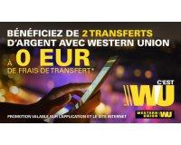 Vente Privée: 2 transferts d'argent vers un autre compte en banque sans frais d'envoi avec WU