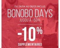 Bonobo Jeans: Bonobo Days : jusqu'à -50% sur une sélection d'articles et code - 10% suppl.