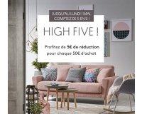 Kavehome: 5€ de réduction tous les 50€ d'achats