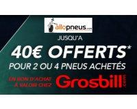 Allopneus: 2 pneus Falken achetés = 15€, 4 pneus Falken achetés = 40€ offerts chez Grosbill