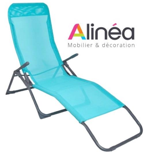 bain de soleil transat ergo bleu p trole ou noir 19 99. Black Bedroom Furniture Sets. Home Design Ideas