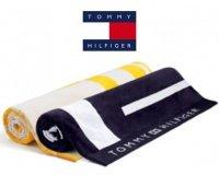 Tommy Hilfiger : Un drap de plage jaune ou noir offert dès 200€ dans la collection Printemps-Été