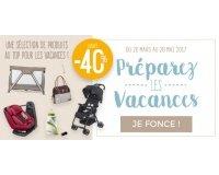 Allobébé: -40% sur une selection nomade pour partir en voyage avec bébé