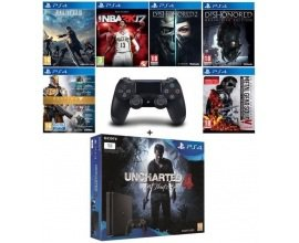 Cdiscount: PS4 Slim 1 To + 2e manette + 7 jeux (dont Uncharted 4, FFXV...) à 359,99€