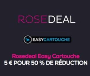 rosedeal easycartouche payez 5 pour 50 de bon de r duction vente priv e. Black Bedroom Furniture Sets. Home Design Ideas