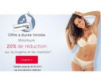 Bonprix: Minimum -20% de réduction sur une sélection lingerie et maillots