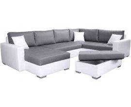 Auchan: Canapé d'angle droit et pouf coffre simili TITAN à 699€ seulement