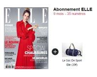 Jemabonne: L'abonnement de 9 mois à Elle + un sac de sport à 39,90 € seulement !