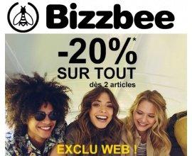 Bizzbee: 20% de réduction sur tout le site dès 2 articles achetés