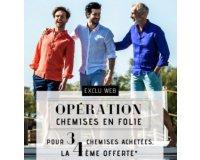Father & Sons: 3 chemises achetées = la 4ème offerte