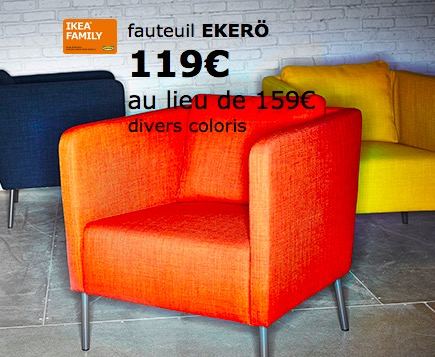 25 de r duction sur les fauteuils eker ikea. Black Bedroom Furniture Sets. Home Design Ideas