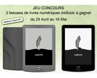 IDBOOX: 2 liseuses inkBook Prime & 1 liseuse inkBook Classic2 à gagner