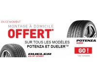 Allopneus: Le montage à domicile offert pour l'achat de pneus Bridgestone Potenza ou Dueler