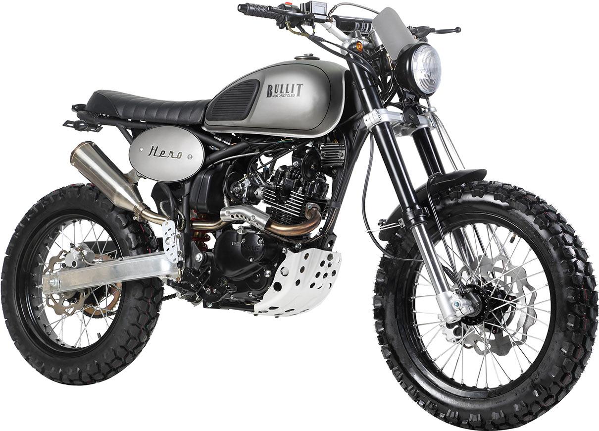 une moto bullit hero 125 gagner l 39 quipe. Black Bedroom Furniture Sets. Home Design Ideas