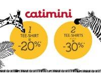 Catimini: -20% pour l'achat d'un tee-shirt et -30% pour l'achat de 2 tee-shirts et plus