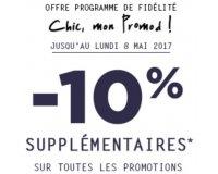 Promod: [Programme fidélité Chic mon Promod] -10% supplémentaires sur les promotions
