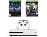 Cdiscount: Console Xbox One S 500 Go + 2 jeux (Gears of War 4 et Prey) à 204€