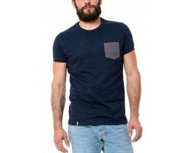 Le t-shirt Propre: T-shirt bleu avec poche grise made in France coton 100% bio à 39€ au lieu de 47€