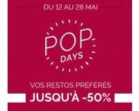 LaFourchette: Pop Days : jusqu'à - 50% sur vos restaurants préférés partout en France